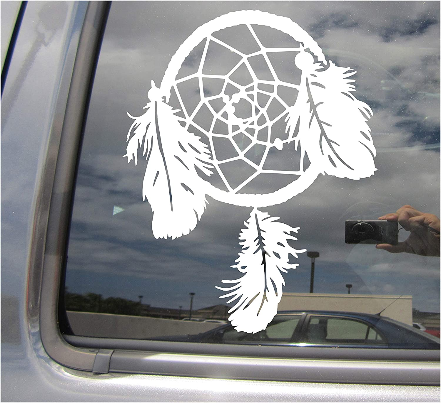 Native American Indian Cars Trucks Moped Helmet Hard Hat Auto Automotive Craft Laptop Vinyl Decal Store Window Wall Sticker 10154 Right Now Decals Dreamcatcher Dream Catcher