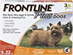 Frontline Plus Flea and Tick Treatment for Dogs (Small Dog, 5-22