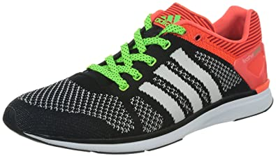detailed look 9844c 1407a Adidas Mens ADIZERO FEATHER PRIME M Black, White and Solar Red Mesh  Running Shoes -