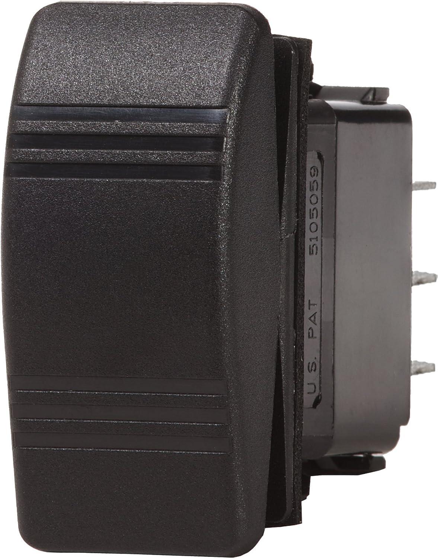 Amazon.com : Blue Sea Systems Contura (ON)-OFF-ON SPST Switch, Black ...