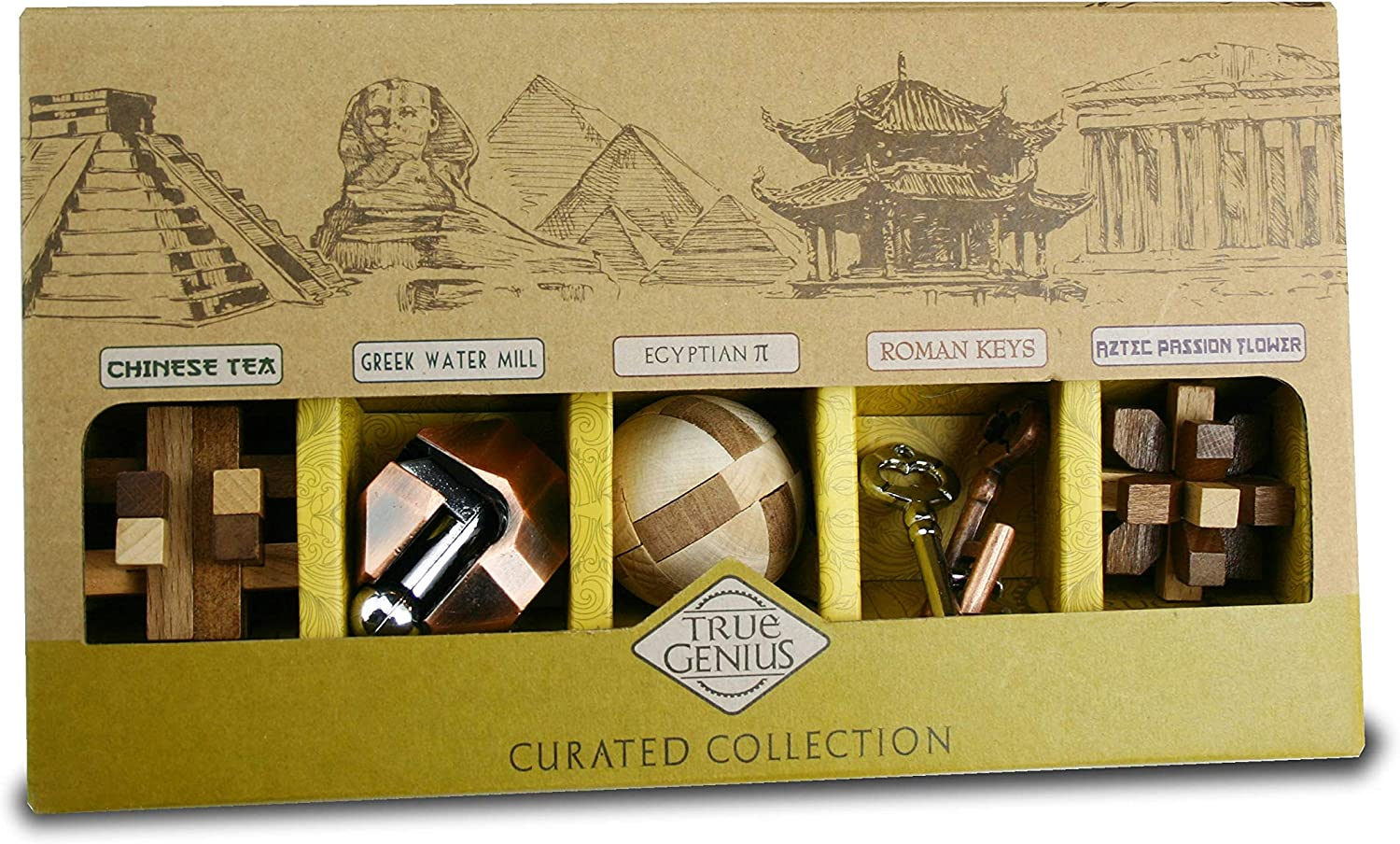 Project Genius True Genius CURATED Collection - disassembly Puzzle, Brain teasers, Adult Puzzle