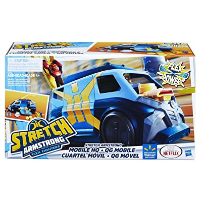 STRETCH ARMSTRONG and The Flex Fighters Flex Power Mobile Headquarters HQ Van: Toys & Games