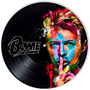 David Bowie Vinyl Decor, Wall Decor Painted David Bowie, Original Gifts for Music Lovers, The Best Gift for Souvenir, Unique Wall Art Home Decor