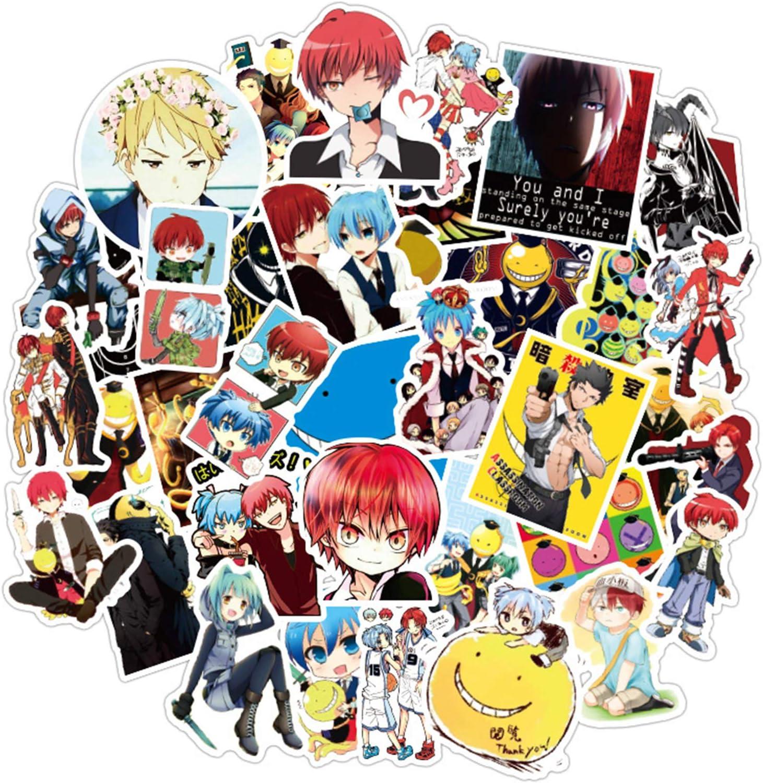 on ICE PVC Stickers for Luggage Laptop Skateboard DIY 50PCS//SET Anime YURI!!