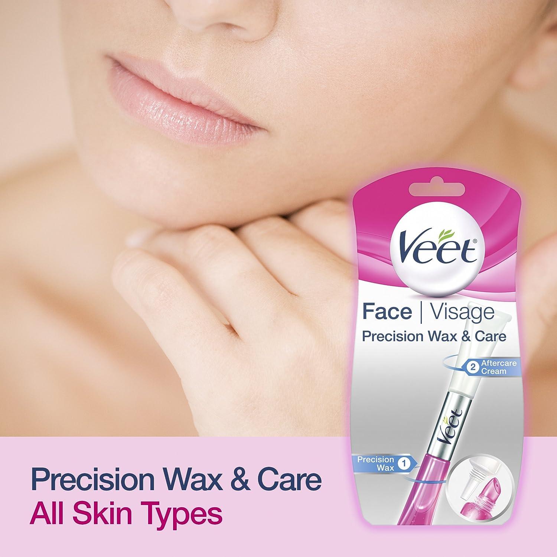 Veet Cera precisión y cuidado de crema facial 10 ml: Amazon.es: Salud y cuidado personal