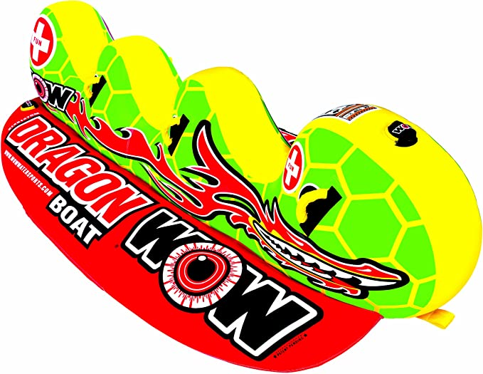 WOW World of Watersports 13-1060, Dragon Boat Inflatable Towable, Ski Tube, 3 Person best towable raft