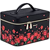 EVE'S LOVE Makeup Train Case Portable Cosmetic Bag Organizer for Girl Women Travel Shopping