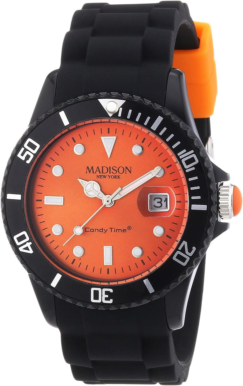Madison Reloj Análogo clásico para Unisex de Cuarzo con Correa en Caucho U4486-04
