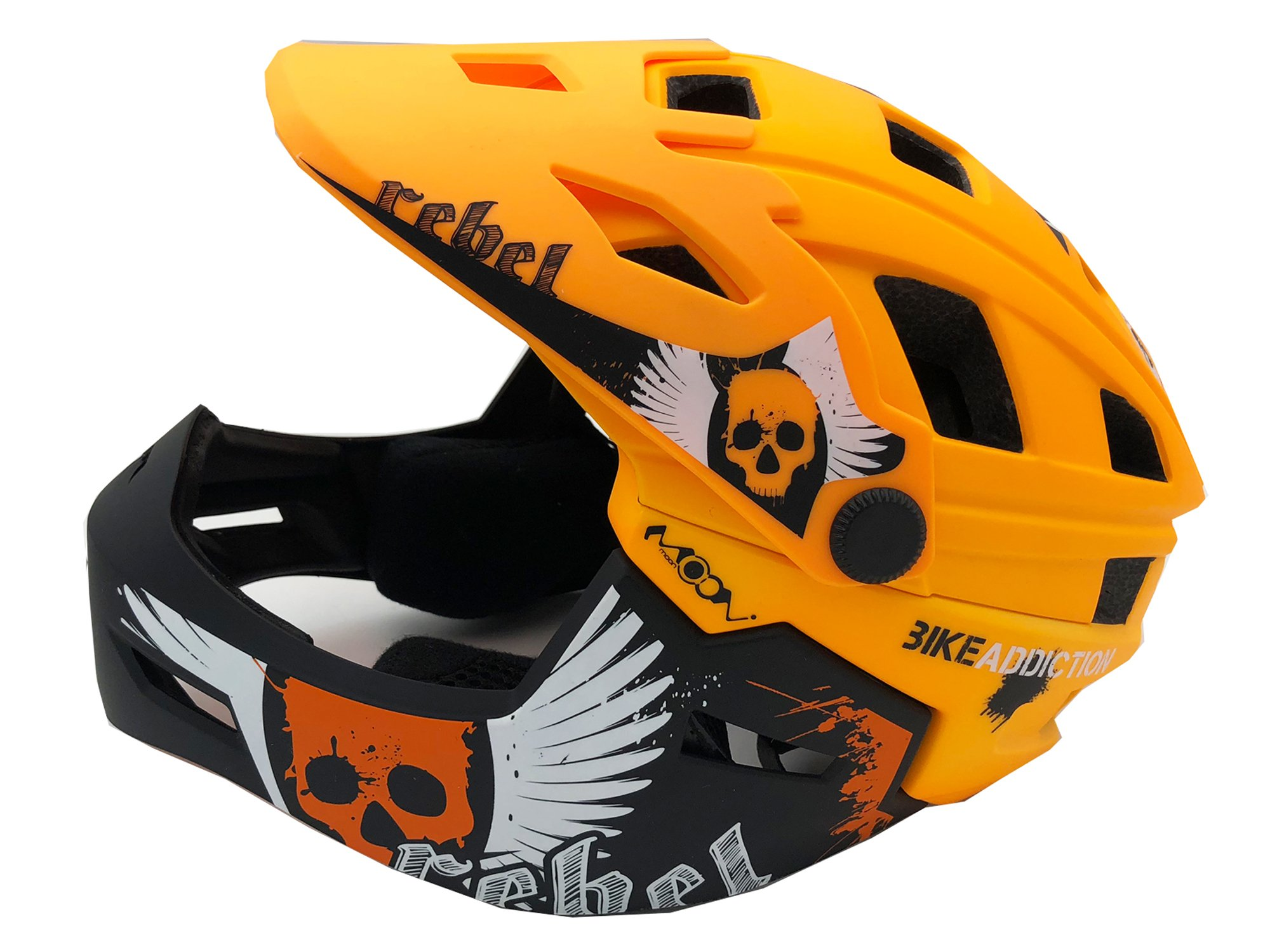 BeBeFun Brave BMX/Downhill Kids/Child 52-55cm for 3-7years Full Face Bicycls Helmet-Oange
