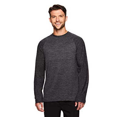 95d3f9813f Gaiam Men's Long Sleeve Relaxed Fit T Shirt - Yoga & Workout Activewear Top  - Champion