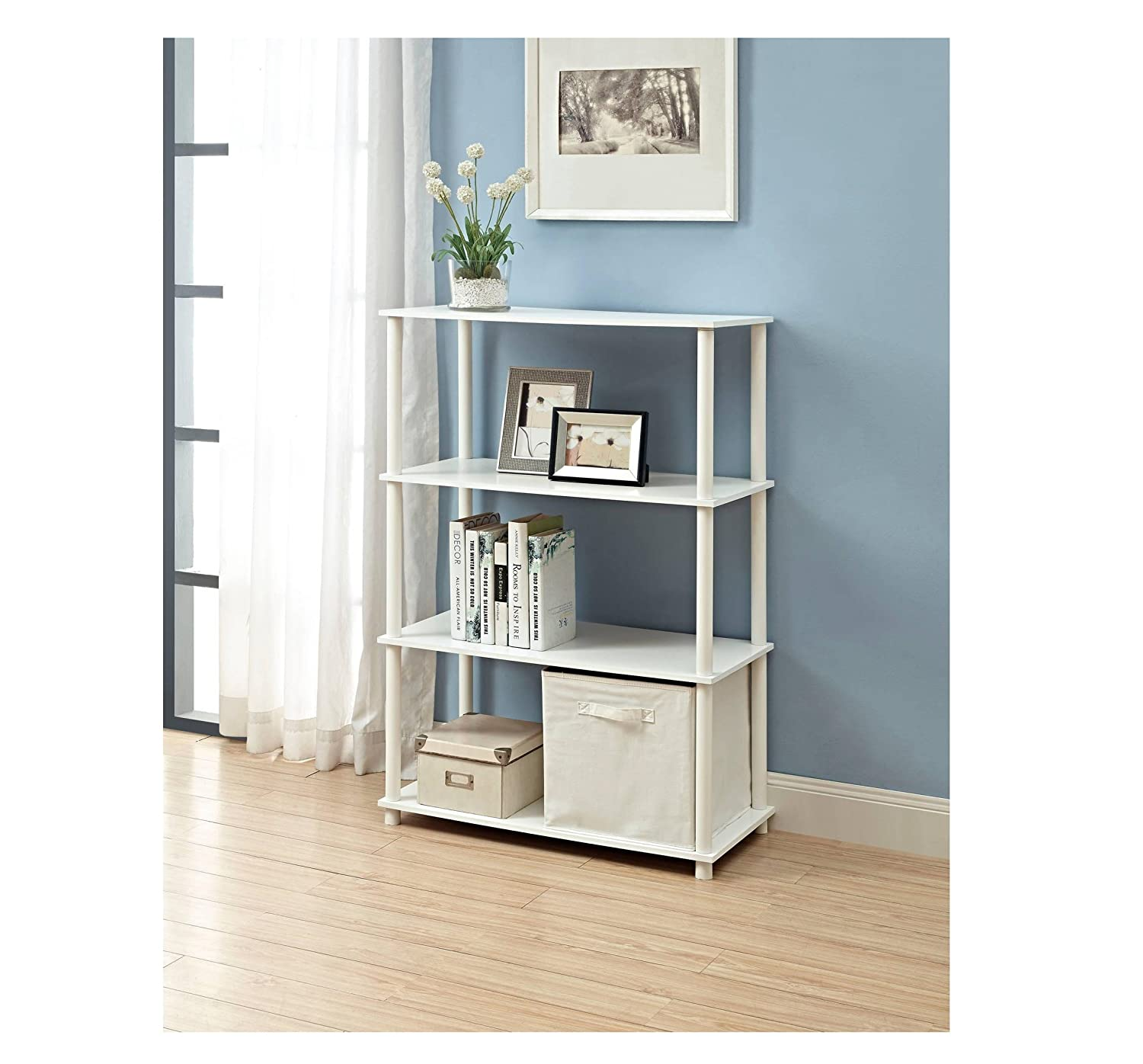 shelf com decorative cube organizer storage kitchen closetmaid amazon white home dp