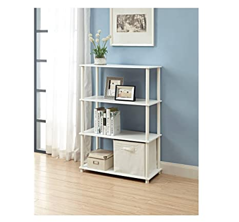 No Tools 6 Cube Storage Shelf White Easy To Assemble And Great