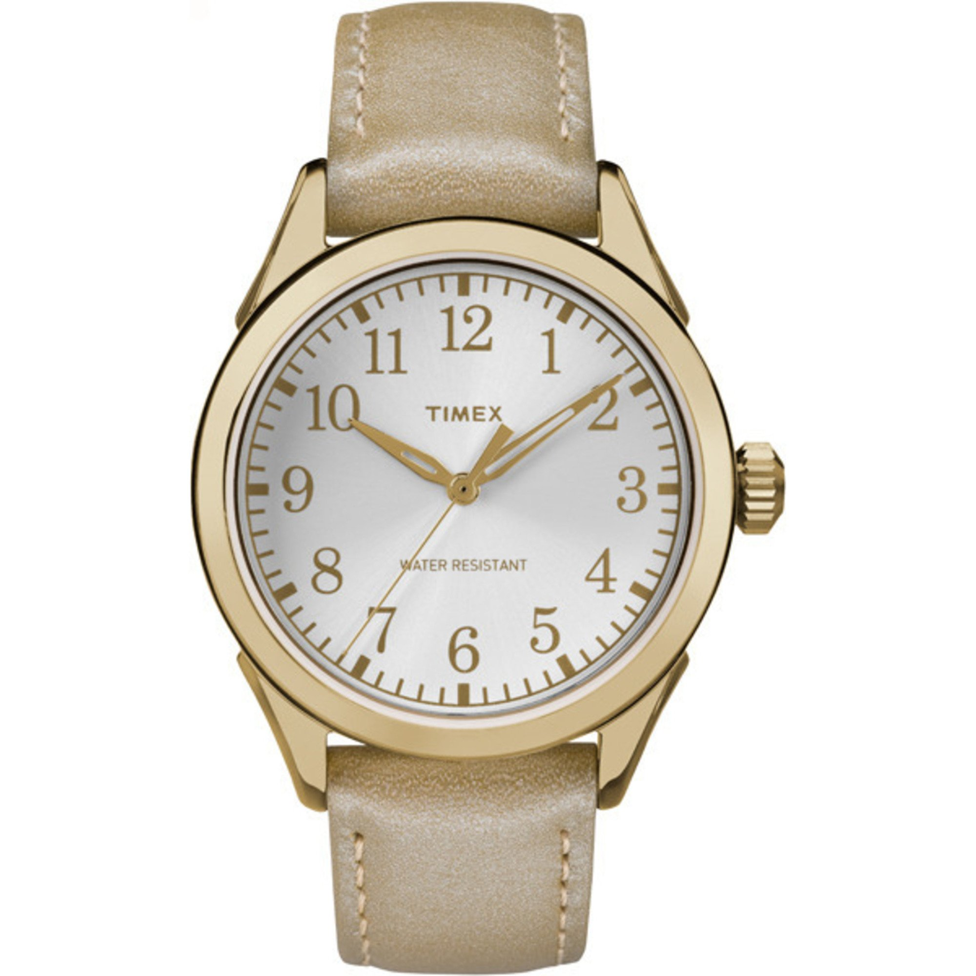 Timex Women's Briarwood Terrace | Gold-Tone Strap Silver-Tone Dial | TW2P99300