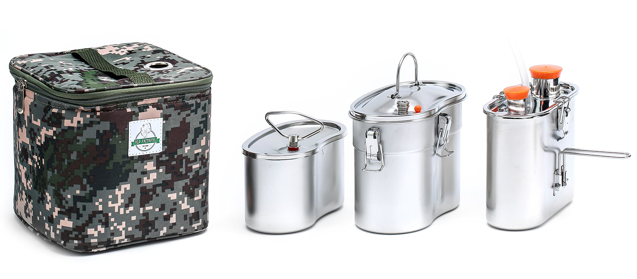 Old Faithful Flameless Geyser Portable Cooking System - Cook Anywhere Without Fire - MRE Freeze Dried Backpacking Camping Emergency Bug Out by Old Faithful EST.2016