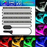 Amazon Price History for:MINGER One-Line Car Interior Lights, 4pcs 48 LED RGB Multicolor Music Car LED Strip Light, Waterproof Underdash Lighting Kits with Sound Active Function and Simple Control, 12V Car Charger Included