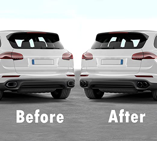 Amazon.com: GTS-Look Exhaust Muffler Tips Upgrade for Cayenne 958.2 V6 Engine 2015-17 Models, Round Type (Black Mirror): Automotive