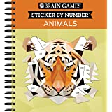 Brain Games - Sticker by Number: Animals - 2 Books in 1 (42 Images to Sticker)