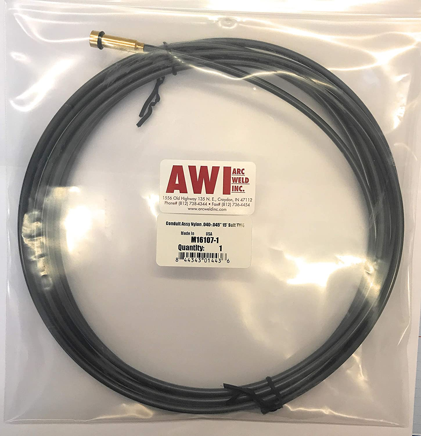 Arc Weld by Masterweld M16107-1 Lincoln Style Replacement Liner For Aluminum Wire .040-.045 Teflon