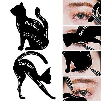 IGEMY 2 herramientas de maquillaje tipo línea de gato, para ...