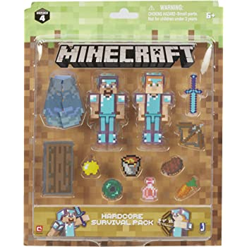 Amazon.com: Minecraft Alex with Skeleton Horse Pack: Toys & Games