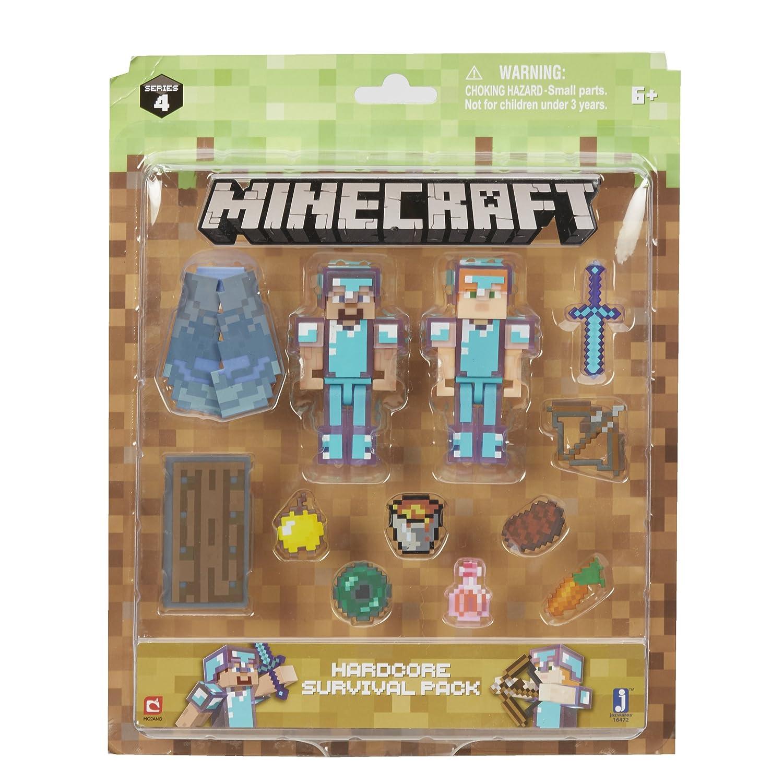 Minecraft - Figurine - Pack De Survie Hardcore Steve & Alex Jazwares 16472