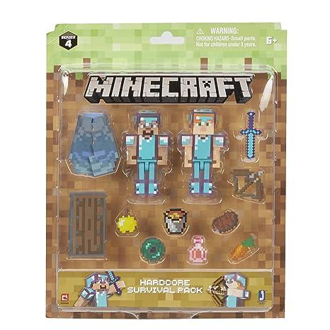 Amazon.com: Minecraft Steve & Alex Hardcore Survival Pack: Toys & Games