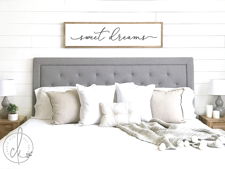 CELYCASY sweet dreams sign  bedroom wall decor  master bedroom