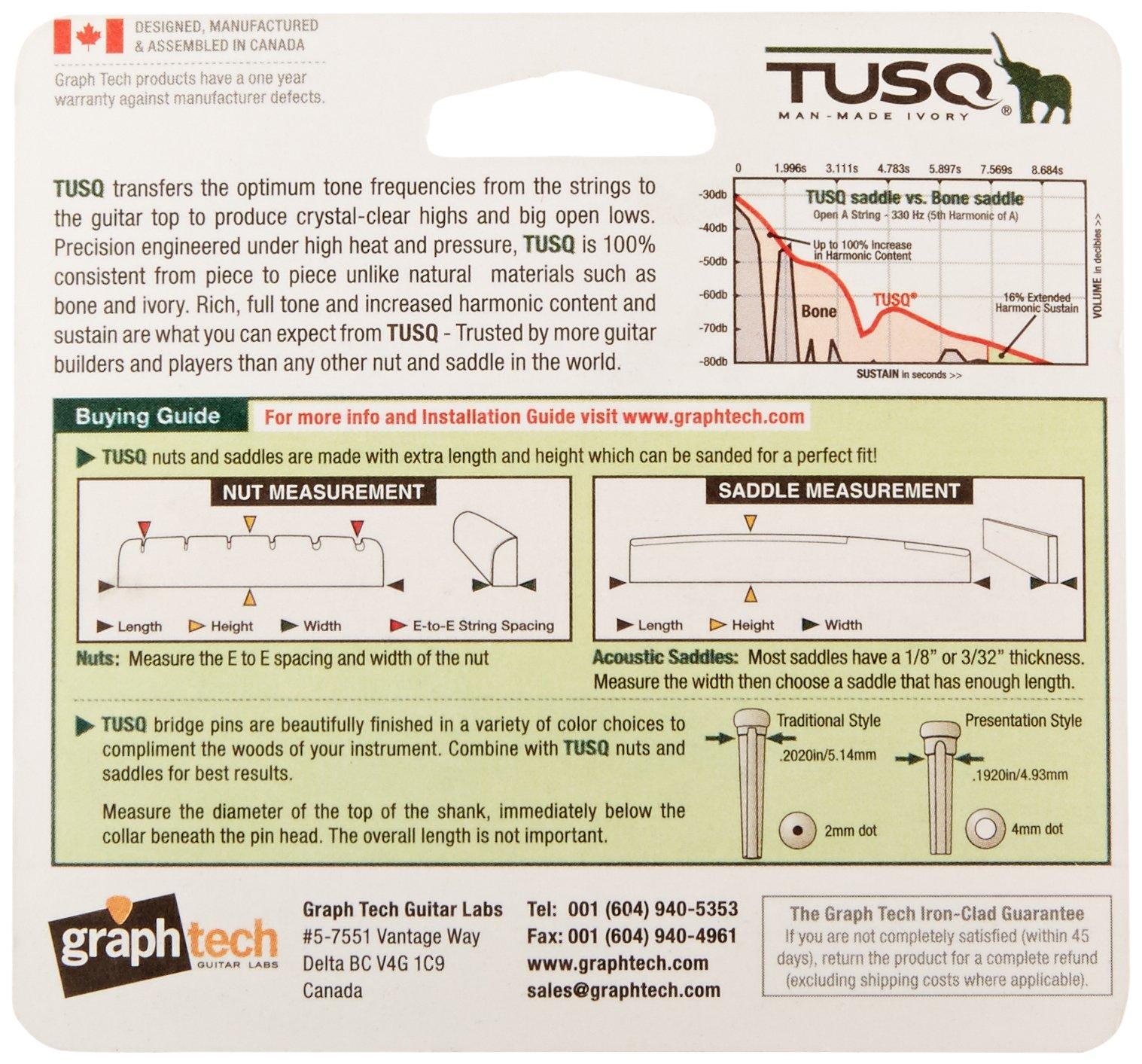 GraphTech PQ153000 TUSQ Acoustic Guitar Nut, Mandolin Slotted