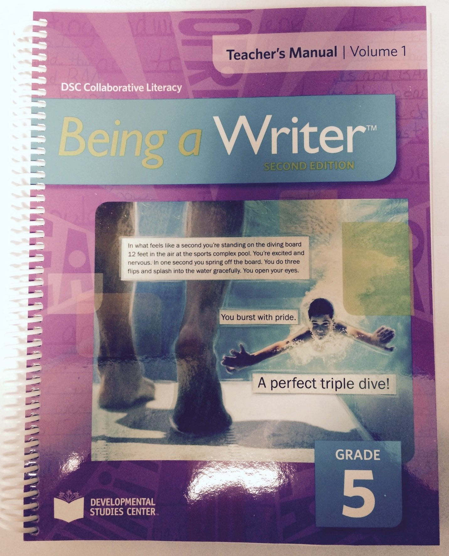 Being a Writer Teacher's Manual Volume 1 Grade 5 pdf epub