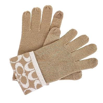 b463b86b3823 [コーチ] COACH アパレル (手袋) F56446 キャメル CAM シグネチャー 手袋 レディース [アウトレット