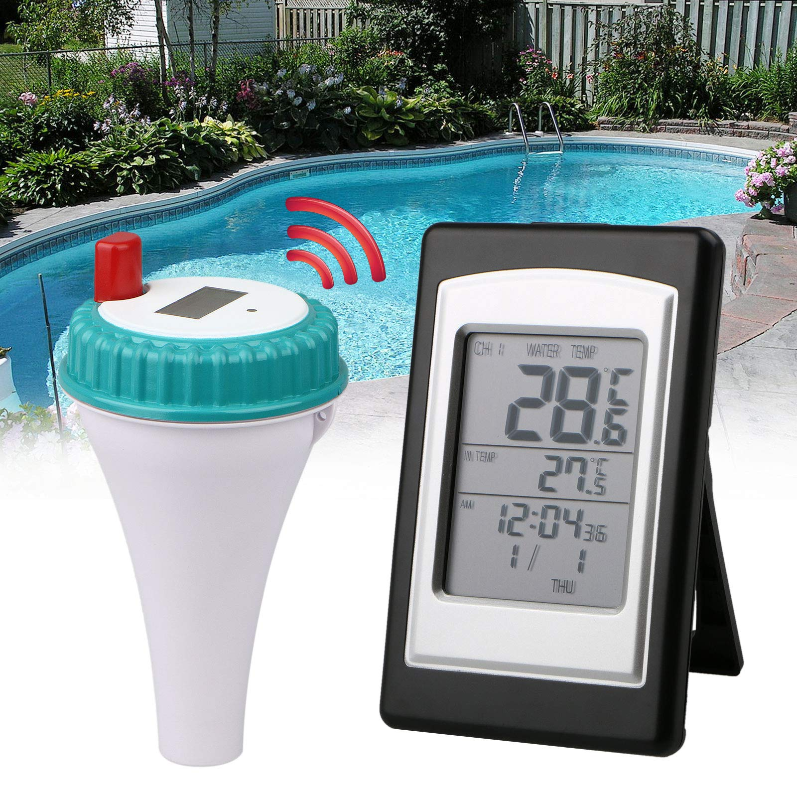 EEEKit Wireless Digtal Waterproof Floating Swimming Pool Thermometer Water Spa Temperature Guage