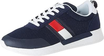 Tommy Hilfiger Flexi Tommy Jeans Flag Sneaker, Zapatillas para Hombre, Azul (Twilight Navy C87), 41 EU