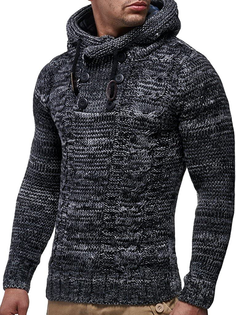 Leif Nelson Gilet Tricot col Large LN20227