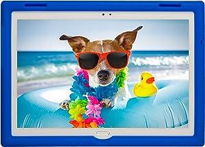 BobjGear Bobj Rugged Tablet Case for Lenovo Tab 4 10 Plus (TB-X704V, TB-X704F, TB-X704L, TB-X704Y, MotoTab TB-X704A) - BobjBounces Kid Friendly (Batfish Blue)