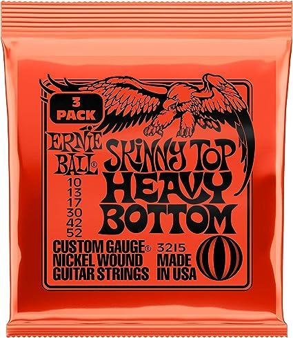 Ernie Ball Skinny Top Heavy Bottom Slinky Nickel Wound Cuerdas ...