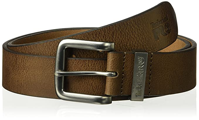 01d4b02e116 Timberland PRO Men's 40mm Workwear Leather Belt, Brown/Logo Keepers ...