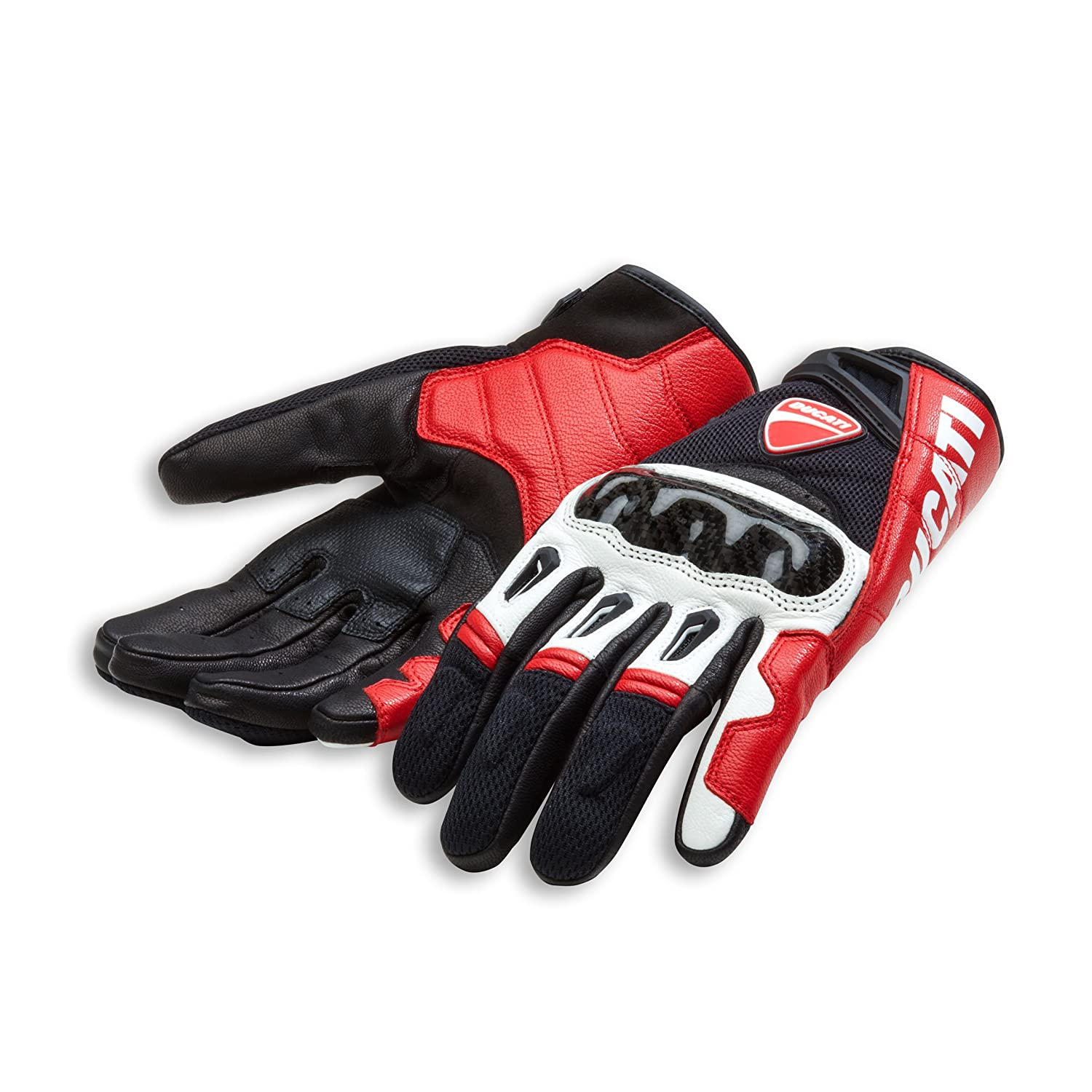 Ducati Company C1 Leather Motorcycle Gloves 3Xl, Red//Black