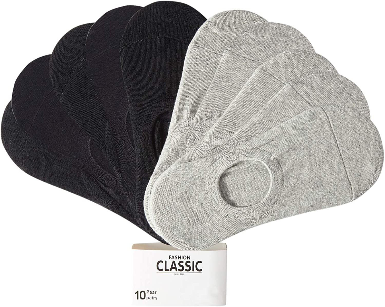 TUUHAW Calcetines Cortos Hombre Mujer 10 pares Invisibles Respirable Calcetines tobilleros Algod/ón Antideslizantes