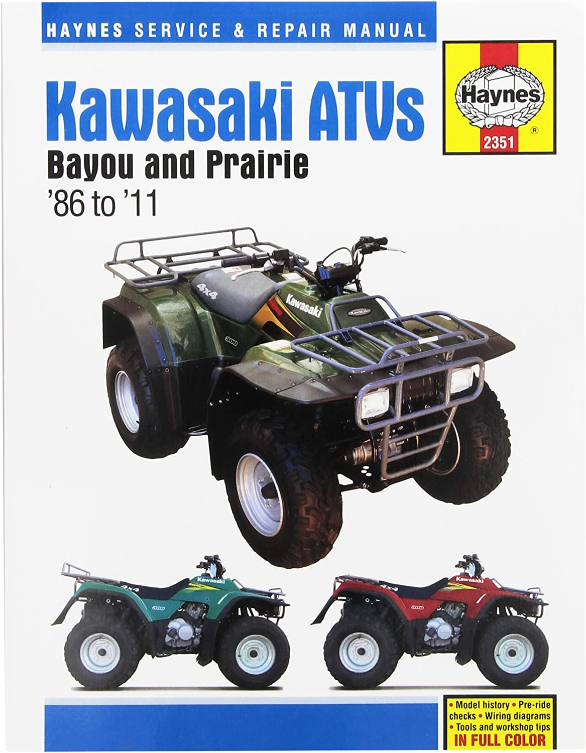 Kawasaki Bayou & Prairie ATV Haynes Repair Manual (1986 - 2011) on honda xr200 wiring diagram, harley davidson wiring diagram, kawasaki lakota motor, kawasaki lakota valves, kawasaki lakota wheels, kawasaki lakota clutch, kawasaki lakota exhaust, kawasaki lakota headlight,
