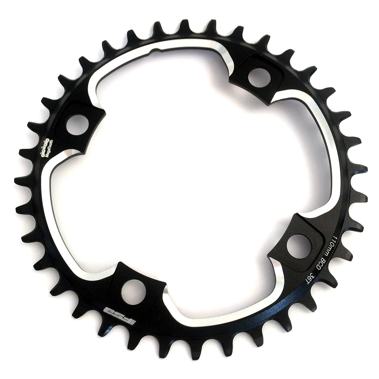 FSA Gossamer Pro 1 X 11 Megatooth自転車Chainring B077B3YQZZブラック 110x36T Black (1x11)