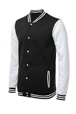 Trifuness Varsity Jacket Letterman Jacket Baseball Jacket with Long ...