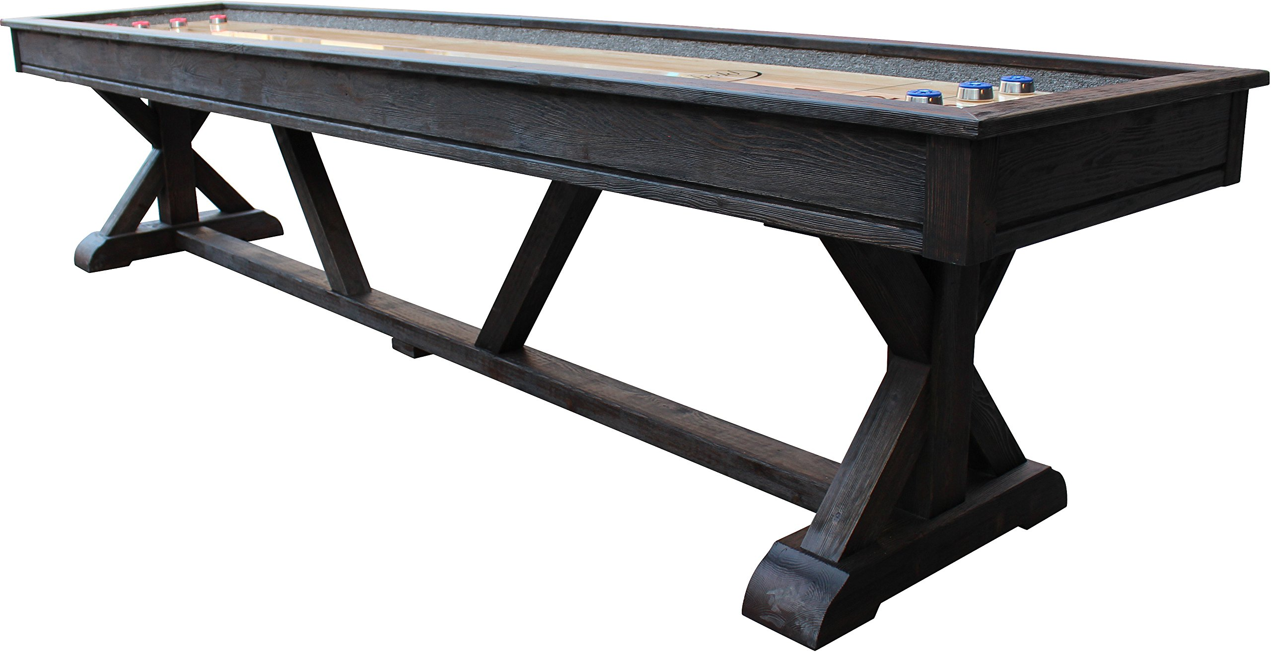 Playcraft Brazos River 12' Weathered Black Pro-Style Shuffleboard Table by Playcraft