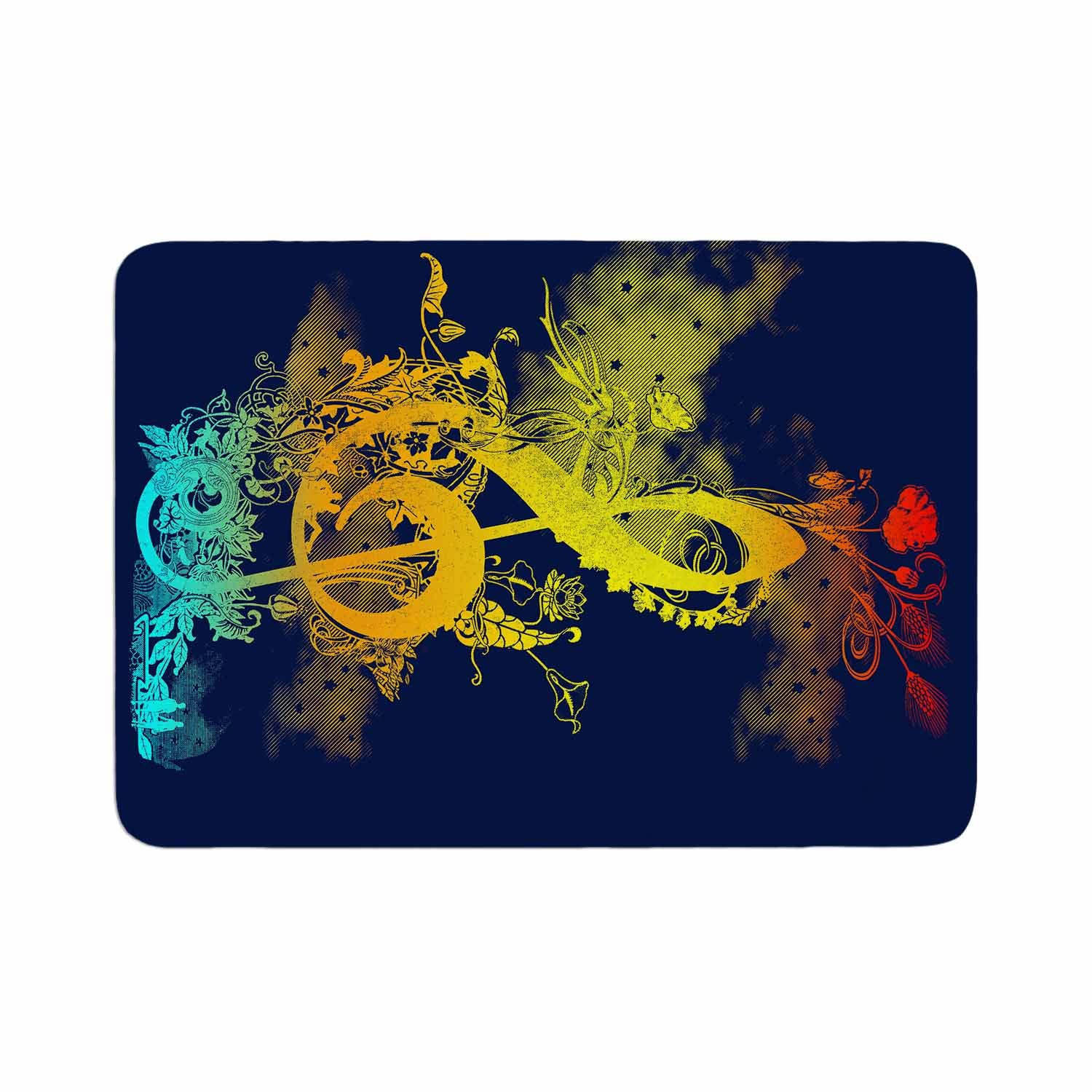 17 by 24 Kess InHouse Federic Levy-Hadida Sound of Nature Rainbow Music Memory Foam/ Bath Mat