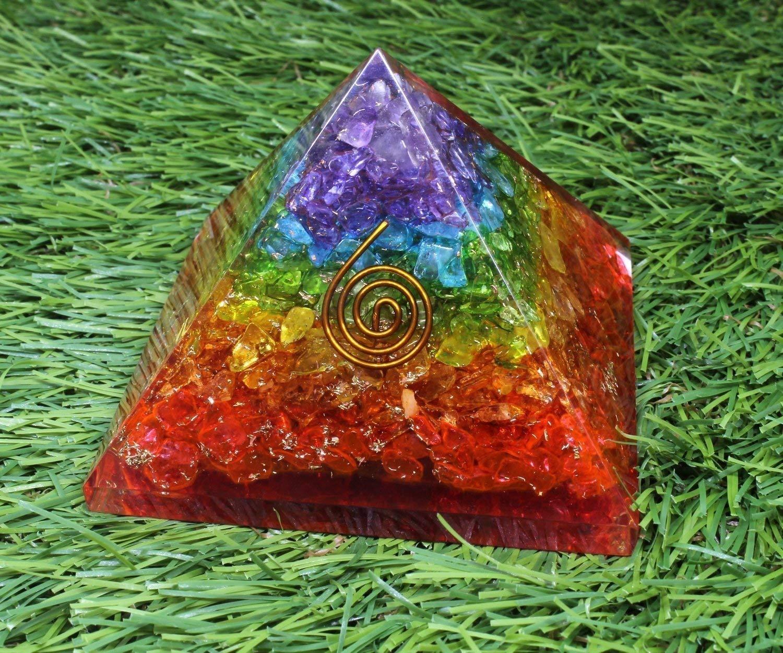 meditation orgonite pyramids//crystal chakra Energy Generator Orgone Pyramid for Emf Protection /& Healing