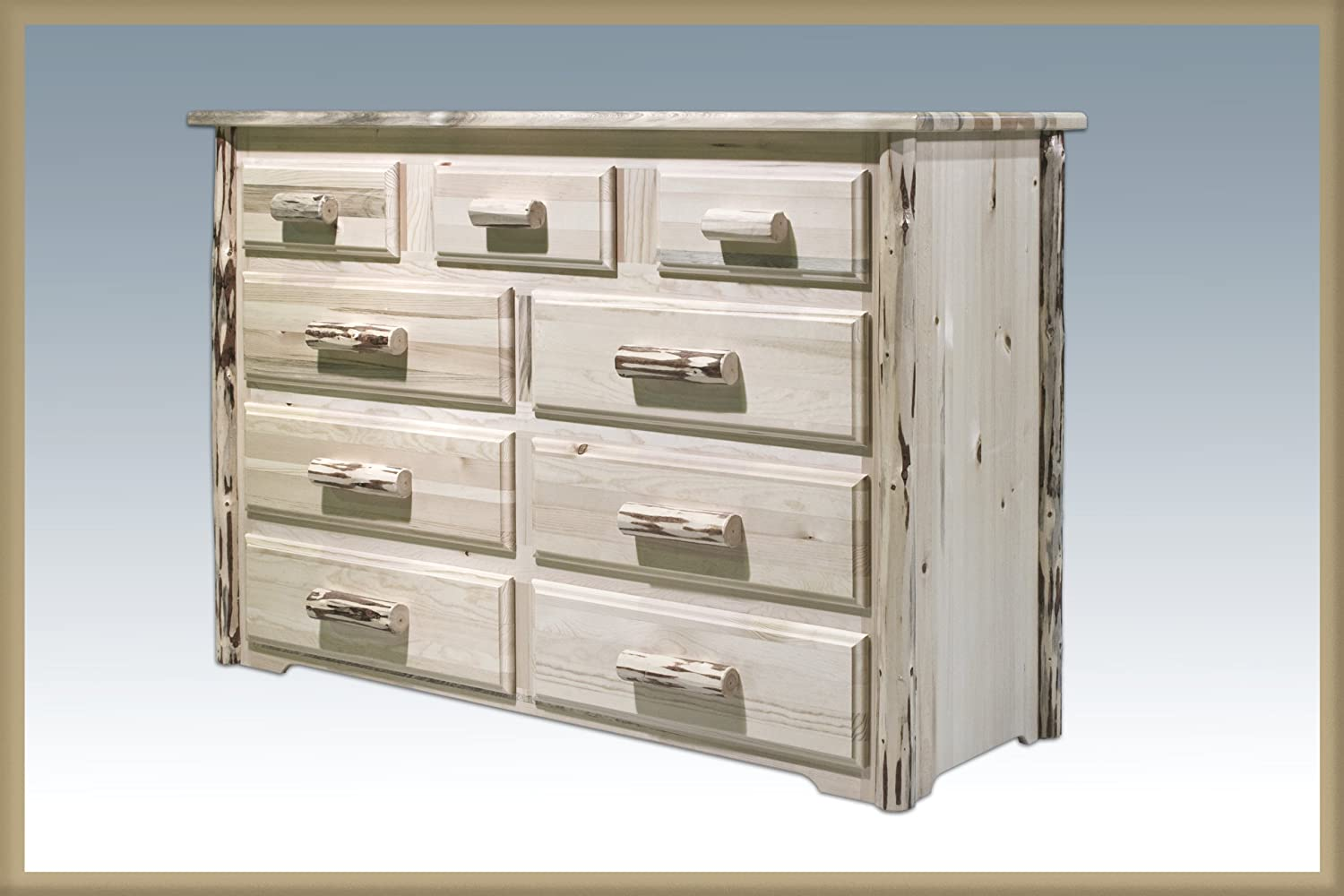 Montana Woodworks Montana Collection 9-Drawer Dresser, Ready to Finish