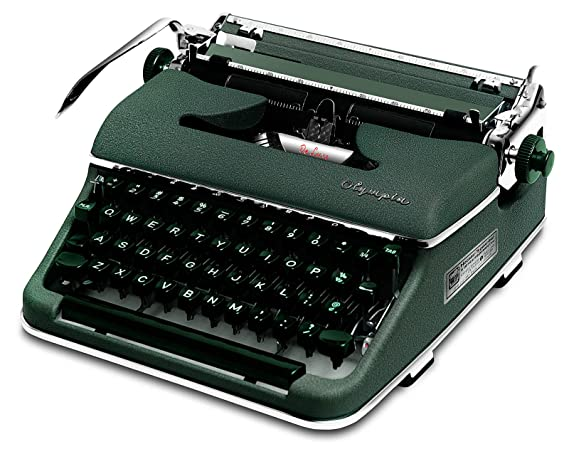 Restaurado Verde 1958 Olympia SM3 de Luxe (en inglés/alemán) Vintage Portátil Manual Máquina de escribir con funda (cvt-787): Amazon.es: Electrónica