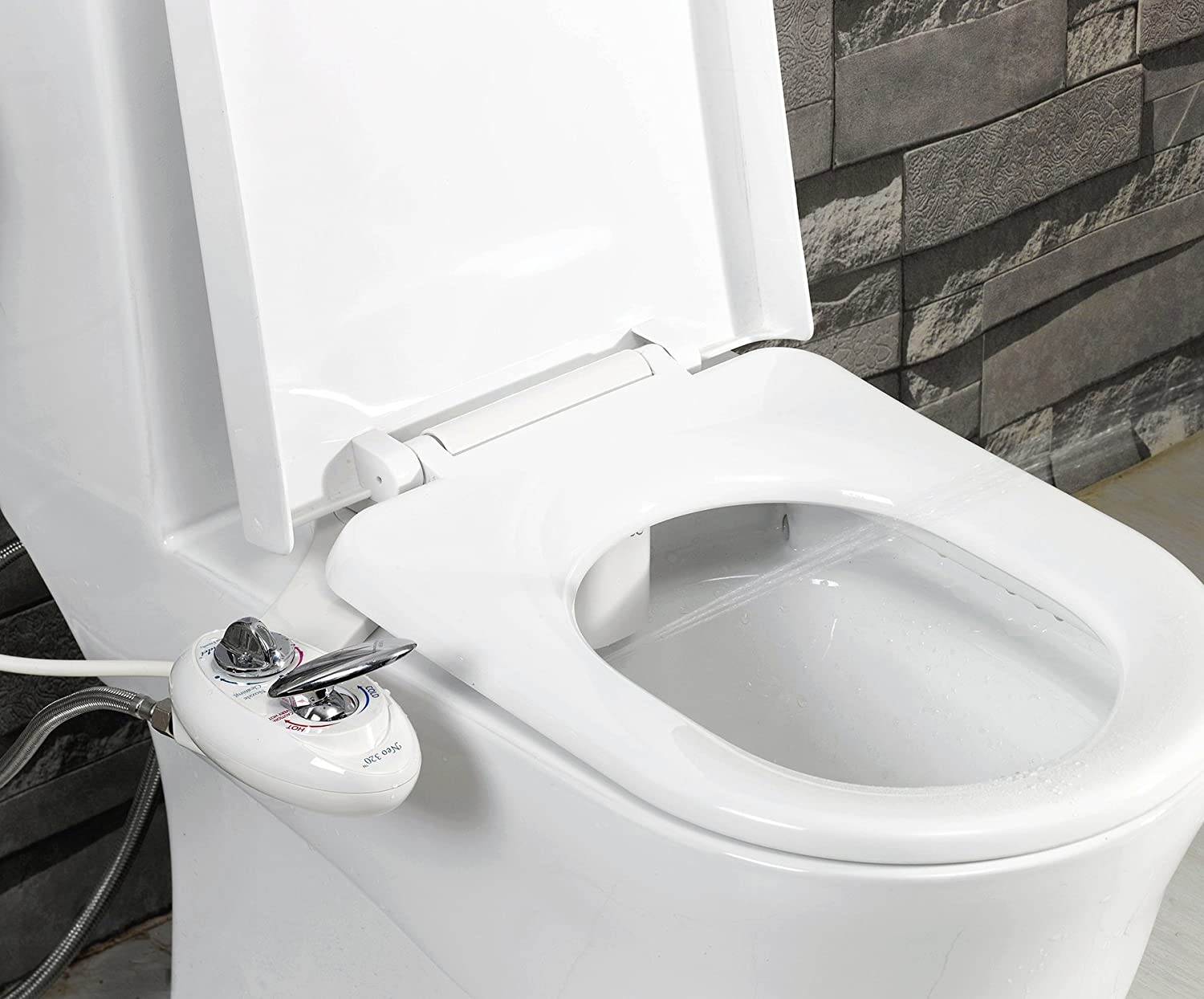 Luxe Bidet Neo 320 Self Cleaning Dual Nozzle Hot And Cold Water