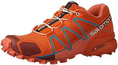 Salomon Damen L39183400 Traillaufschuhe, Rot (Tomato Red/Coral Punch/Blue Jay), 37 1/3 EU