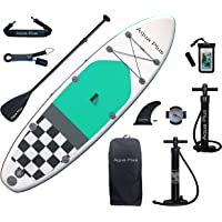Aqua Plus 10ft6inx33inx6in Inflatable SUP for All Skill Levels Stand Up Paddle Board, Adjustable Paddle,Double Action…