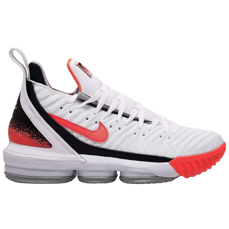 Nike Lebron XVI Shoes 白い/Flat 銀/Hot Lava CI1521-100 Size 12